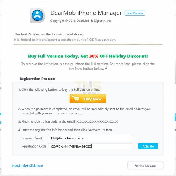 Đang miễn phí ứng dụng quản lý iPhone trị giá 65USD 2
