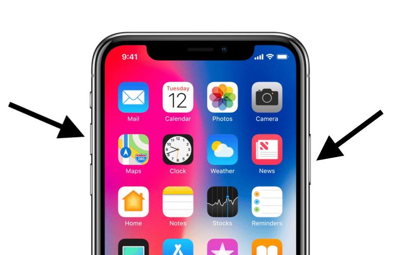 iphone xs screenshot buttons 800x500 - Cách chụp màn hình iPhone XS và iPhone XS Max