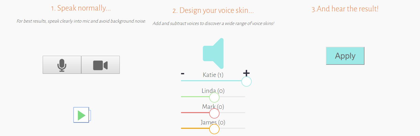 modulate ai 2 - Chuyển giọng nói bằng công cụ tận dụng Machine Learning
