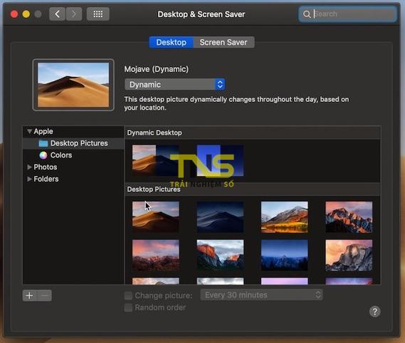 mojave desktop dynamic - Cách bật tính năng Dynamic Desktop Wallpaper trên macOS Mojave