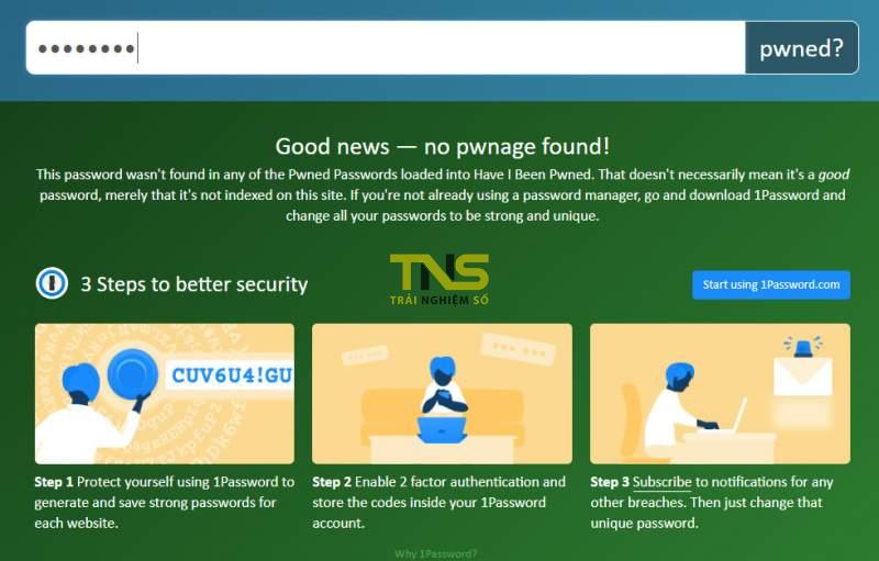 Cách kiểm tra xem mật khẩu bạn sử dụng liệu có an toàn