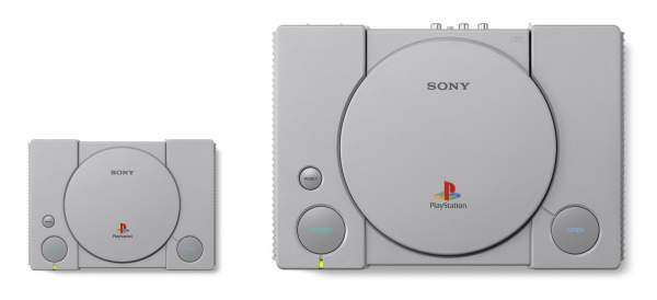 playstation vs playstation classic 600x274 - Sony giới thiệu PlayStation Classic - phiên bản mini của máy chơi game PS1