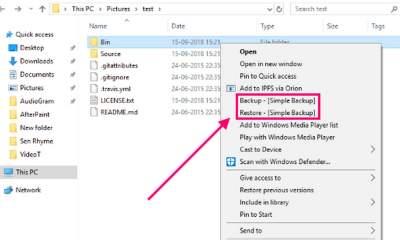 simple backup 1 400x240 - Cách sao lưu nhanh một thư mục trong Windows 10