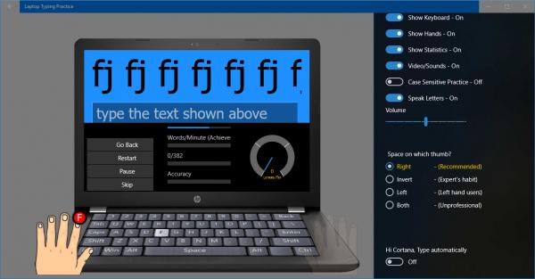 2018 10 23 14 29 04 600x313 - Tổng hợp ứng dụng UWP giúp luyện đánh máy nhanh trên Windows 10