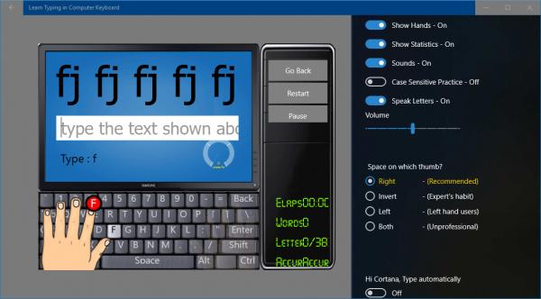 2018 10 23 15 30 07 600x332 - Tổng hợp ứng dụng UWP giúp luyện đánh máy nhanh trên Windows 10