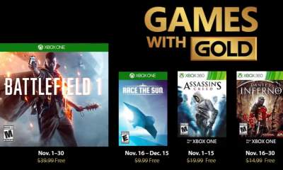 Games with Gold tháng 11/2018