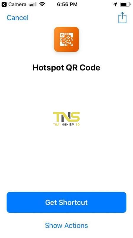 hotspot siri shortcut 1 450x800 - Tạo nhanh một QR code chia sẻ Wi-Fi bằng Siri Shortcuts