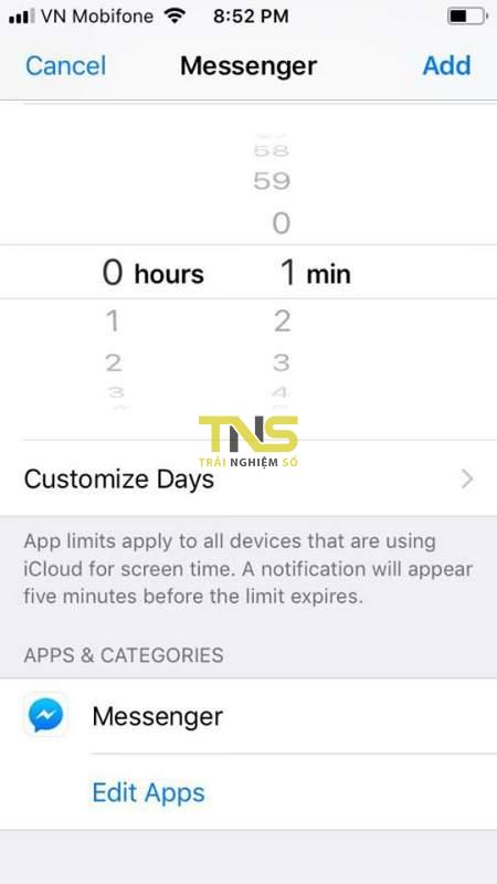 limit apps ios 12 7 450x800 - Cách khoá một ứng dụng bất kỳ trên iOS 12 không cần jailbreak