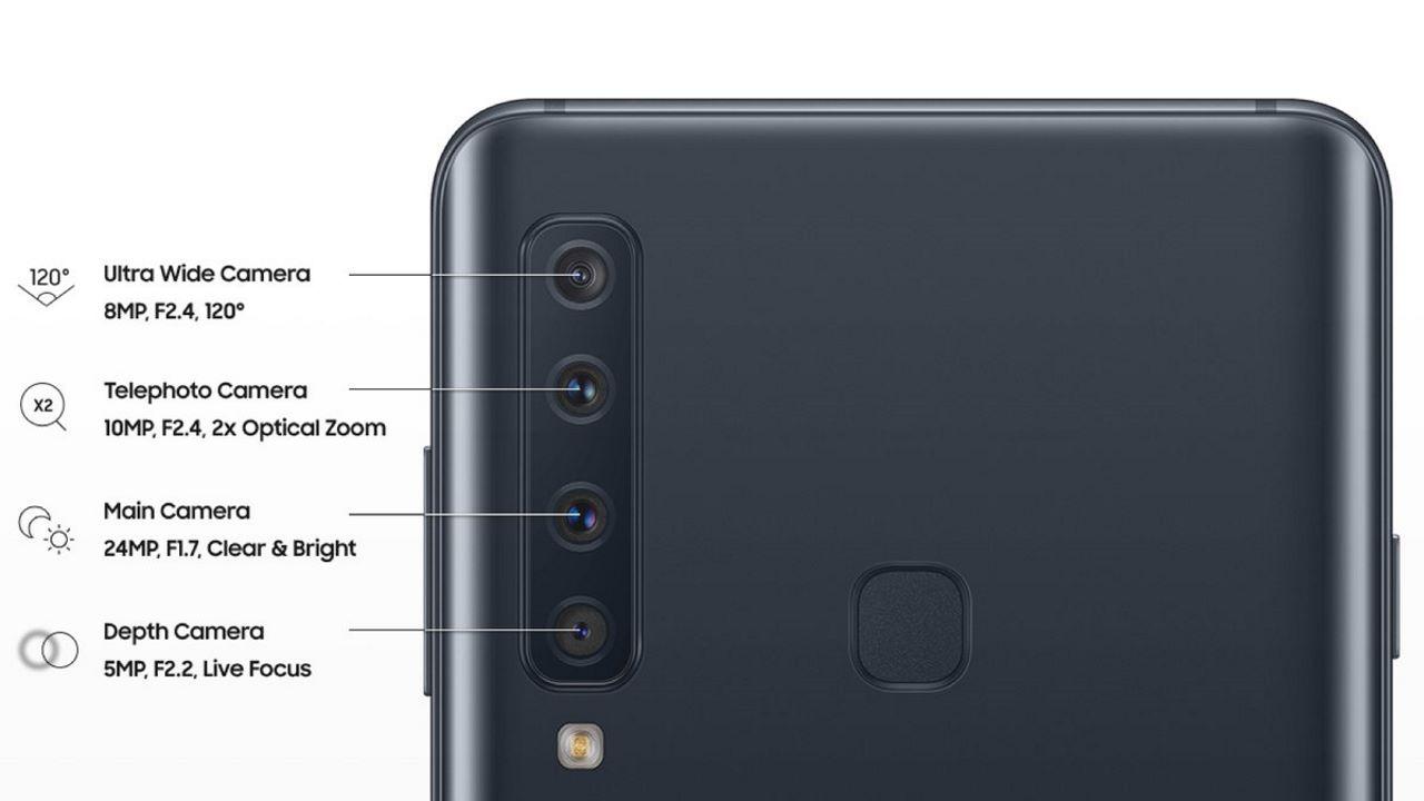 samsung galaxy a9 quad camera featured - Rò rỉ hình ảnh điện thoại Galaxy A9 có 4 camera ở mặt sau