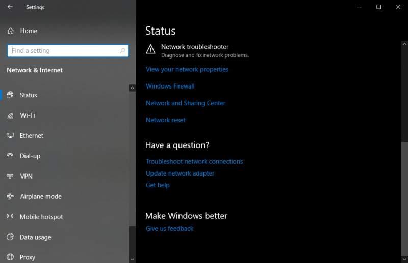 windows 10 network problem 1 800x517 - Cách sửa lỗi ứng dụng không kết nối được internet trên Windows 10 build 1803