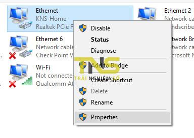 windows 10 network problem 3 - Cách sửa lỗi ứng dụng không kết nối được internet trên Windows 10 build 1803