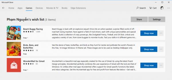 Microsoft Store đã cho phép lưu ứng dụng UWP yêu thích 3