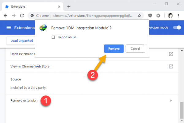 """2018 11 29 16 39 37 600x401 - Khắc phục lỗi """"This extension may have been corrupted"""" của IDM trên Chrome"""