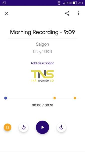 Screenshot 20181121 091119 338x600 - Aroundsound Audio Recorder: Ghi âm vô tận, quản lý bất cứ đâu