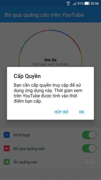 Screenshot 20181123 205632 338x600 - Cách tự động bỏ qua quảng cáo YouTube trên Android