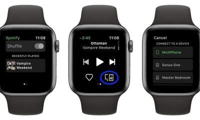 spotify apple watch featured 400x240 - Spotify ra mắt chính thức ứng dụng dành cho Apple Watch