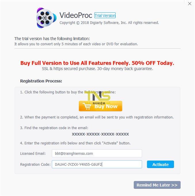 videoproc 4 - Đang miễn phí ứng dụng xử lý video cho cả Mac và Windows, giá gốc 78USD