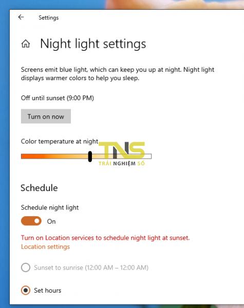 Khắc phục chế độ Night Light trên Windows 10 không hoạt động