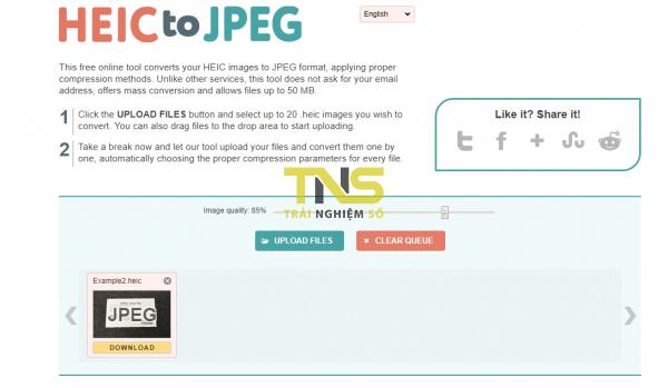 Chuyển đổi trực tuyến hình ảnh HEIC sang JPG, PNG, PDF,… 3