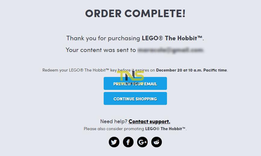 2018 12 14 073830 - Đang miễn phí game LEGO® The Hobbit trị giá 188.000đ