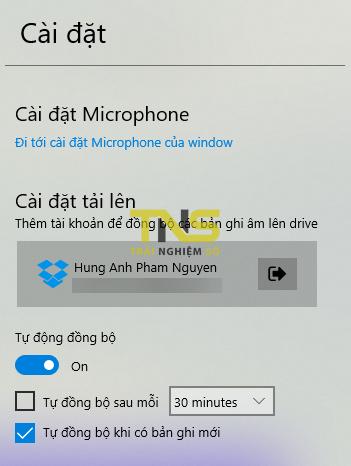 2018 12 21 14 26 31 - Ghi âm miễn phí, đồng bộ tự động lên Google Drive trên Windows 10