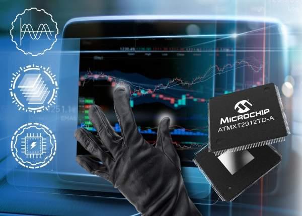 MICROCHIP HMID PR MXT2912TD 7x5 600x429 - Bộ điều khiển maXTouch đơn chip mới của Microchip được dùng trên màn hình cảm ứng 20 inch của ô tô