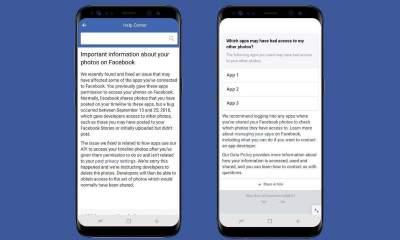 Thông báo lỗi Facebook