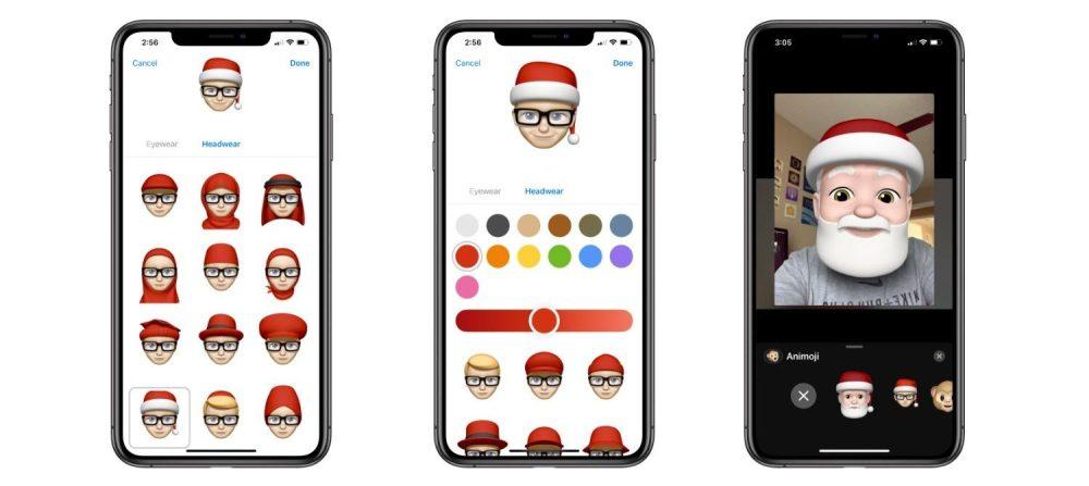 memoji noel - Cách tạo khuôn mặt Ông già Noel trên iPhone