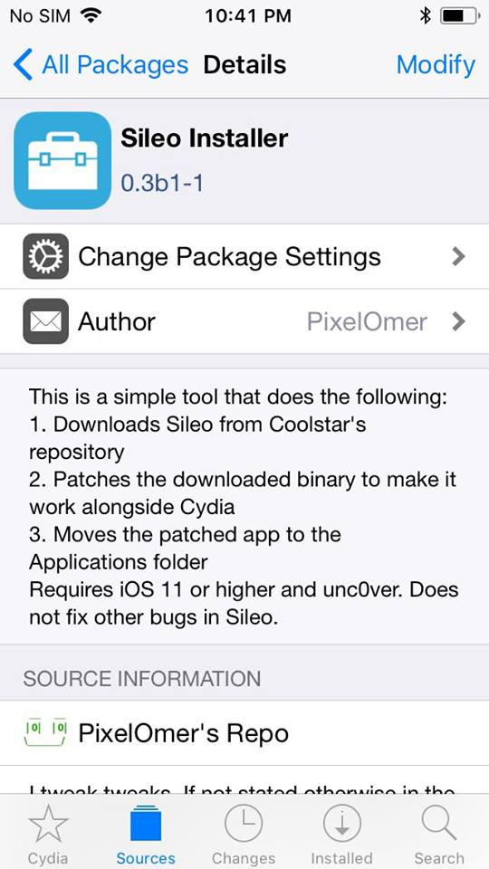 sileo installer - Cách cài đặt Sileo khi bạn jailbreak bằng unc0ver