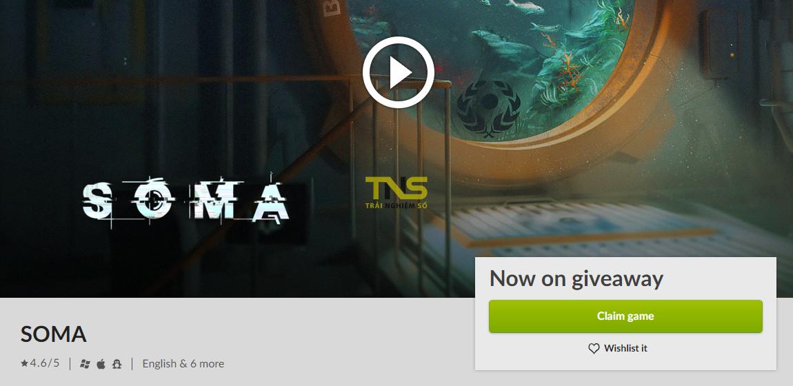 soma free 1 - Đang miễn phí game kinh dị sinh tồn cực hay SOMA, giá gốc 29.99USD