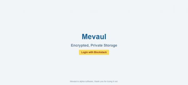 Mevaul: Lưu trữ file miễn phí và an toàn trên nền tảng Blockstack 1