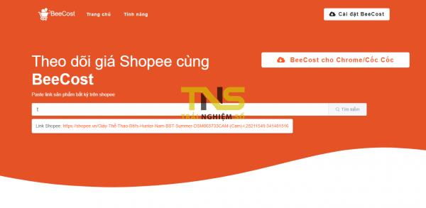 BeeCost: Theo dõi giá sản phẩm trên Shopee để tránh mua hàng giá cao 1