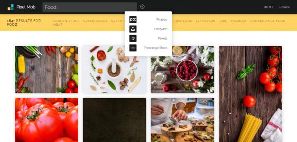 Xem, tìm kiếm ảnh Pixabay, Unsplash,... cùng lúc trên Pixel Mob 2