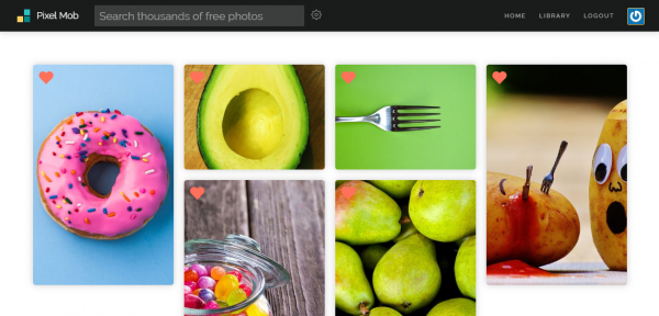 Xem, tìm kiếm ảnh Pixabay, Unsplash,... cùng lúc trên Pixel Mob 4
