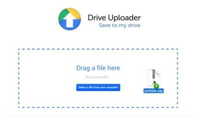Drive Uploader featured 400x240 - Dùng Drive Uploader tạo trang upload tập tin vào tài khoản Google Drive của bạn