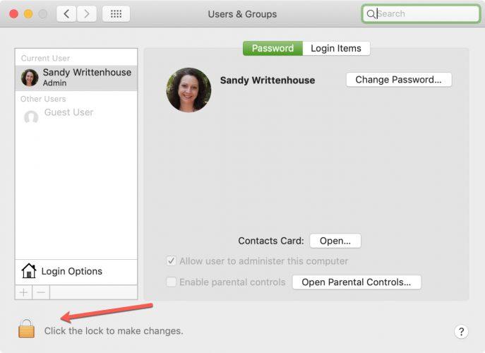 Unlock Users and Groups Settings Mac 687x500 - Cách tắt tài khoản Guest trên máy Mac