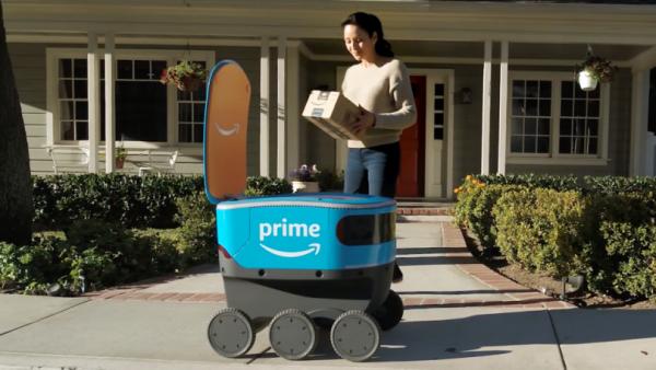 amazon scout 600x338 - Amazon giao hàng bằng người máy