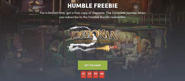 deponia the complete journey free humble bundle 600x263 - Đang miễn phí bộ game point and click Deponia: The Complete Journey rất hay