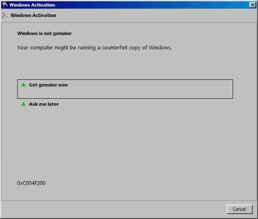 not genuine - Cách xử lý sự cố kích hoạt KMS của Windows 7 làm máy mất bản quyền