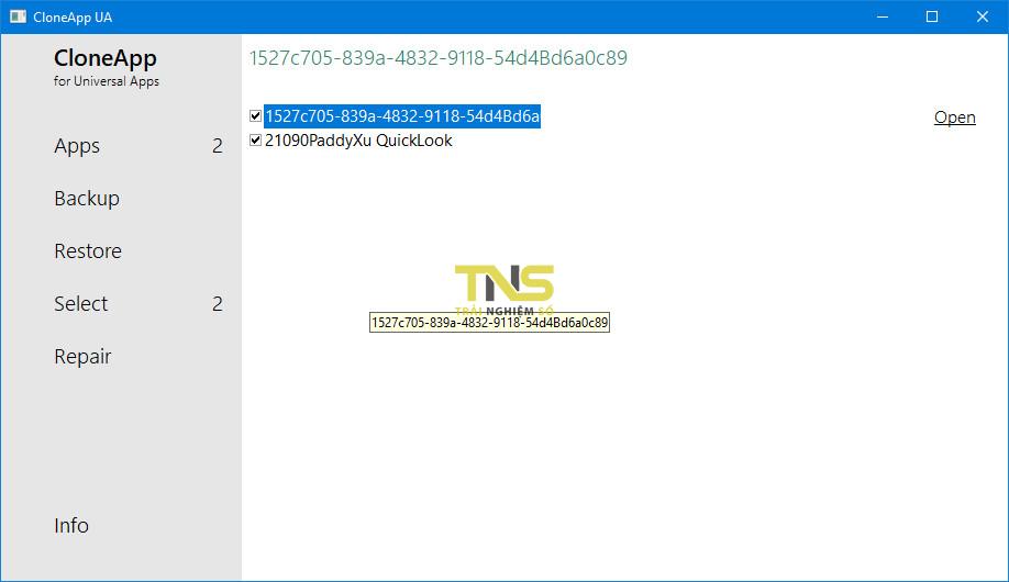 sao luu ung dung uwp 2 - Cách sao lưu dữ liệu các ứng dụng UWP trên Windows 10
