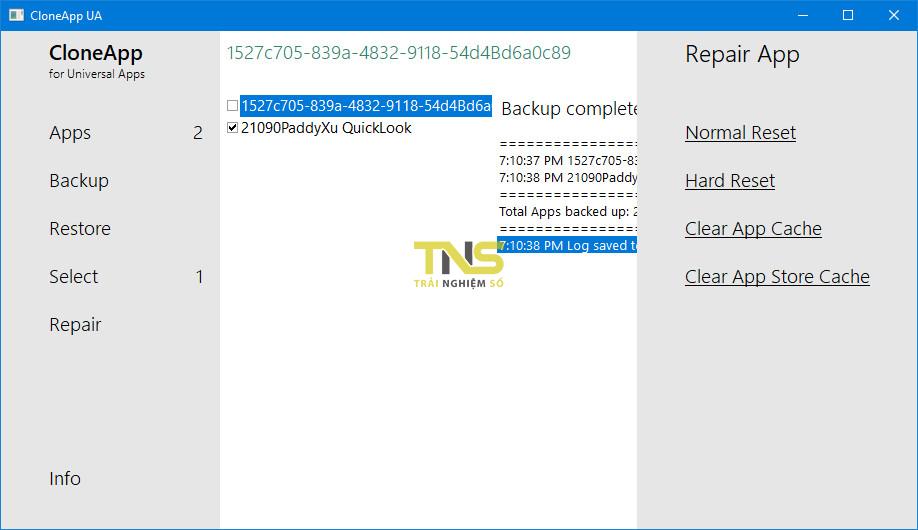 sao luu ung dung uwp 5 - Cách sao lưu dữ liệu các ứng dụng UWP trên Windows 10