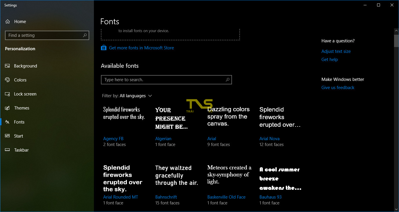 thay doi font he thong windows 10 1 - Cách thay đổi font chữ hệ thống Windows 10