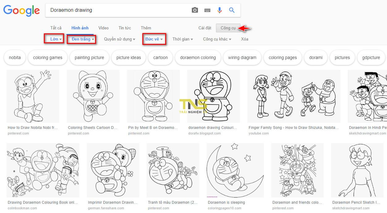 tim tranh to mau02 - Cách tìm hình cho bé tập tô màu trên Google