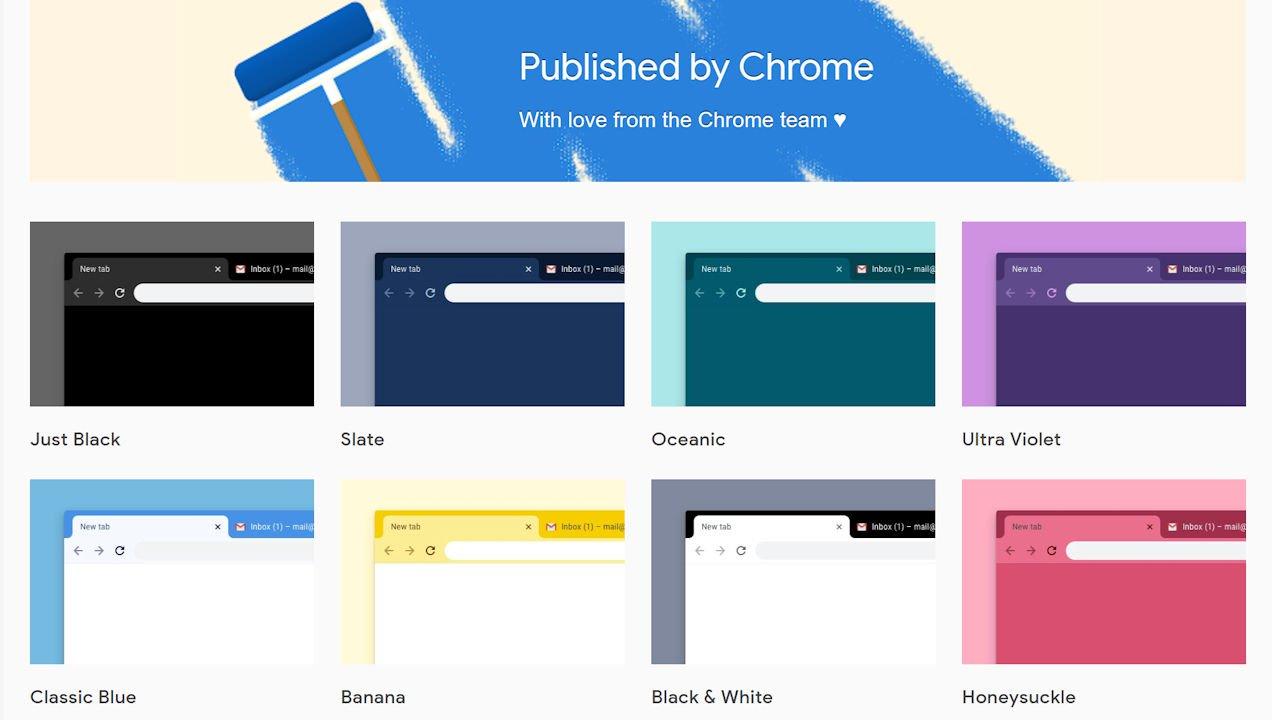 """Published by Chrome featured - Thay """"áo mới"""" cho Chrome với 14 theme do Google phát hành"""