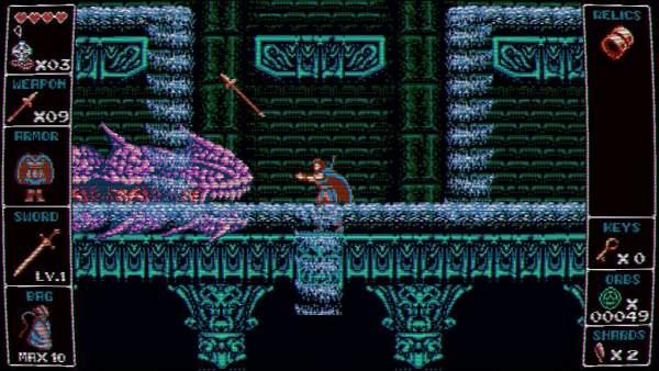 "odallus the dark call switch screenshot 3 600x338 - Đánh giá game Odallus: The Dark Call - ""truyền nhân"" của Castlevania"