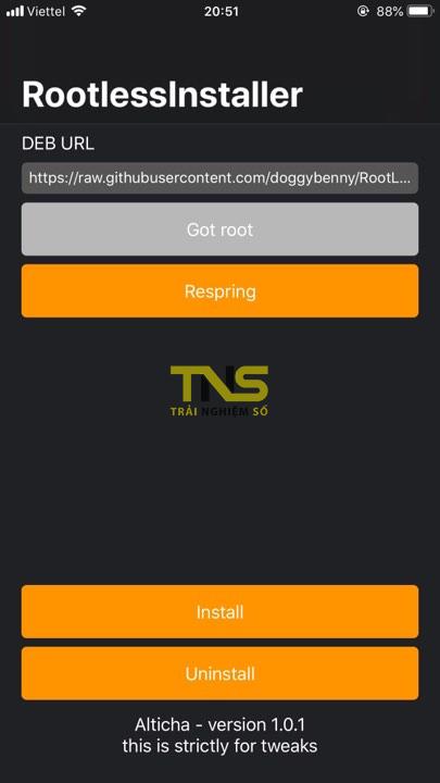 rootlessinstaller 2 - Cách cài tweak trên iOS 12 jailbreak với RootlessInstaller