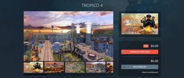 Đang miễn phí game xây dựng và quản lý thành phố Tropico 4