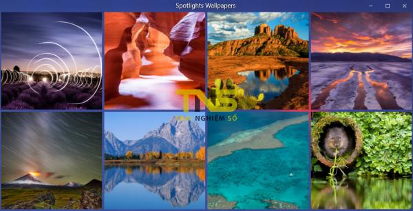 Tải hình ảnh Spotlight trên Windows 10 với SPOTLIGHTS WALLPAPERS