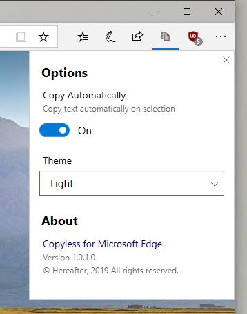 2019 03 22 14 55 23 - Tự động sao chép văn bản chọn trên Microsoft Edge