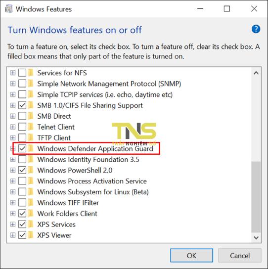 Bật Windows Defender Application Guard - Cách xem an toàn các trang web không đáng tin cậy trên Chrome và Firefox
